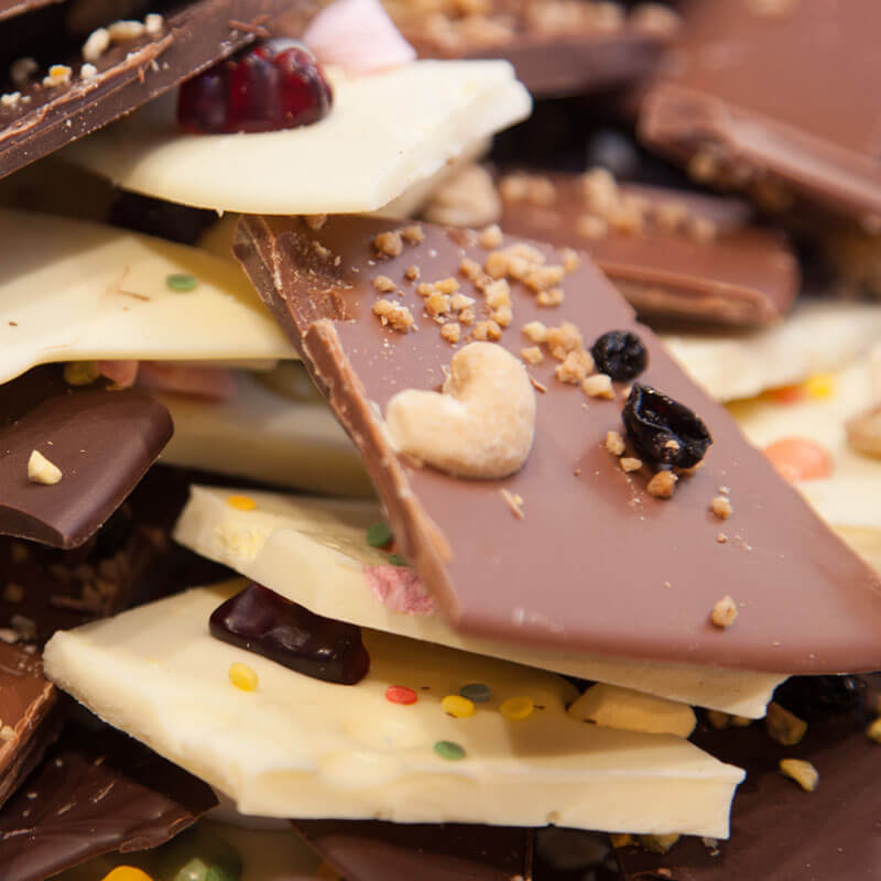 Frische Schokoladen aus der Confiserie